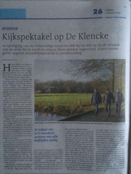 Toorn van Thunaer Dagblad van het Noorden januari 2018