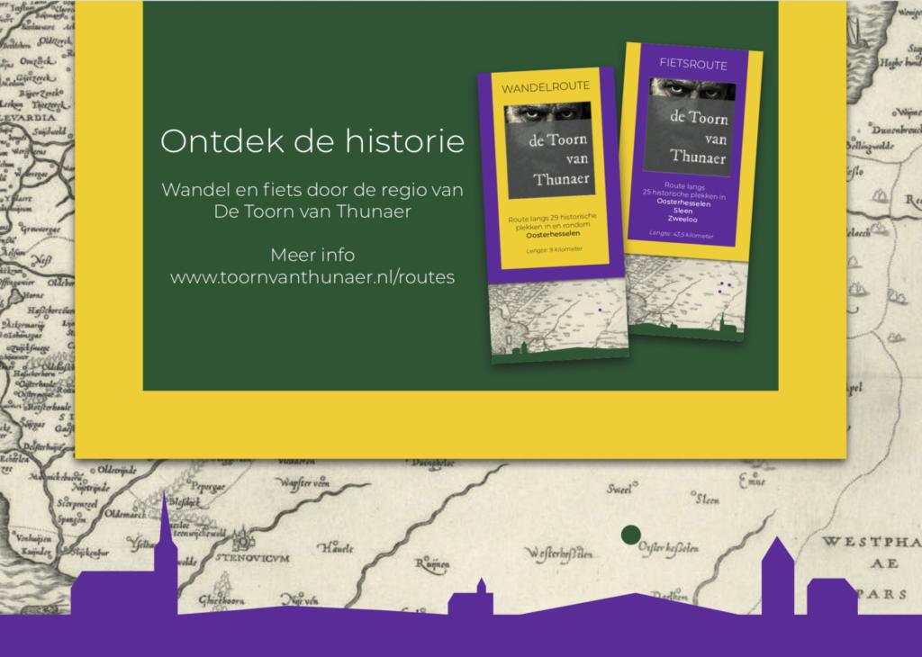 Historische fiets en wandelrouteboekjes Toorn van Thunaer